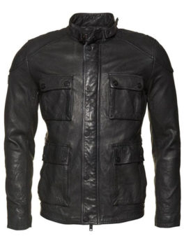 Mens-Black-Leather-Rotor-jacket