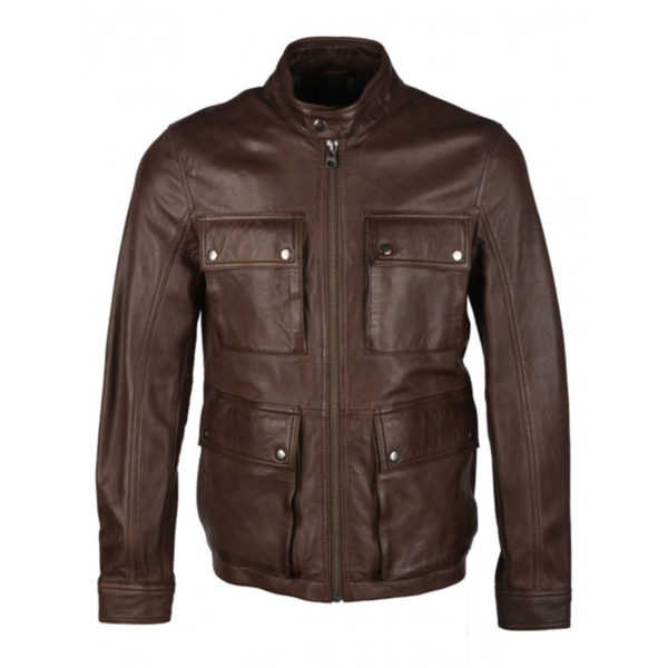 Mens-Hutton-Brown-Leather-Coat