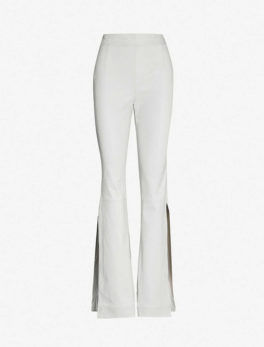 Almada Side-slit Leather Trousers