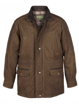 Mens-Green-Leather-Coat