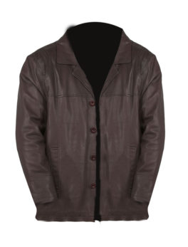 Mens-Brown-Leather-Reefer-Jacket