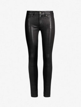 Skinny Mid-Rise Leather Trousers