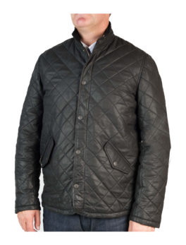 Mens-Matt-Black-Hip-Length-Leather-Jacket