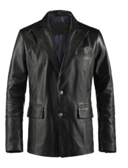 Mens-Black-Leather-Blazer-Jacket