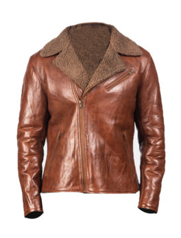 Men-Alberto-Brown-Shearling-Leather-Jacket