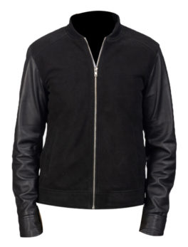 Mens-Blain-Hybird-Black-Bomber-Jacket