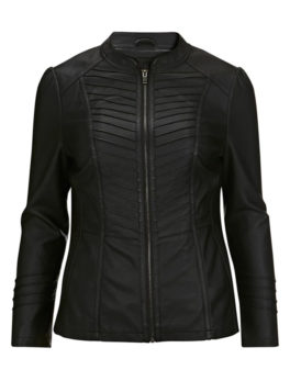 Black-Faux-Leather-Biker-Jacket