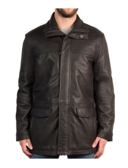 Mens-Black-Leather-Coat-Detachable-Fleece-Collar