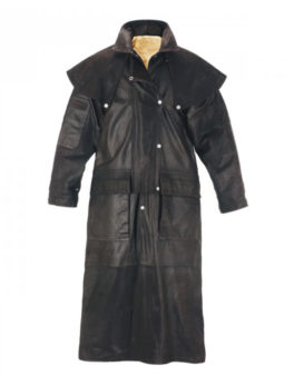 Mens-Brown-Long-Leather-Riding-Coat