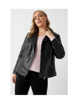 Womens-Black-Faux-Leather-BikerJacket
