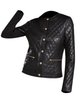 Womens-Black-Faux-Leather-Jacket