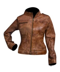 Womens-Distressed-Brown-Biker-Leather-Jacket