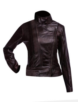 Womens-Black-Biker-Leather-Jacket