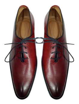 Men's Casual-Maroon-Tip-Style-Leather-Shoes