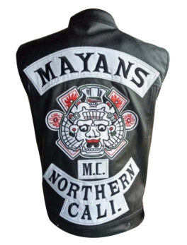 Mayans-MC-Black-Leather-Vest