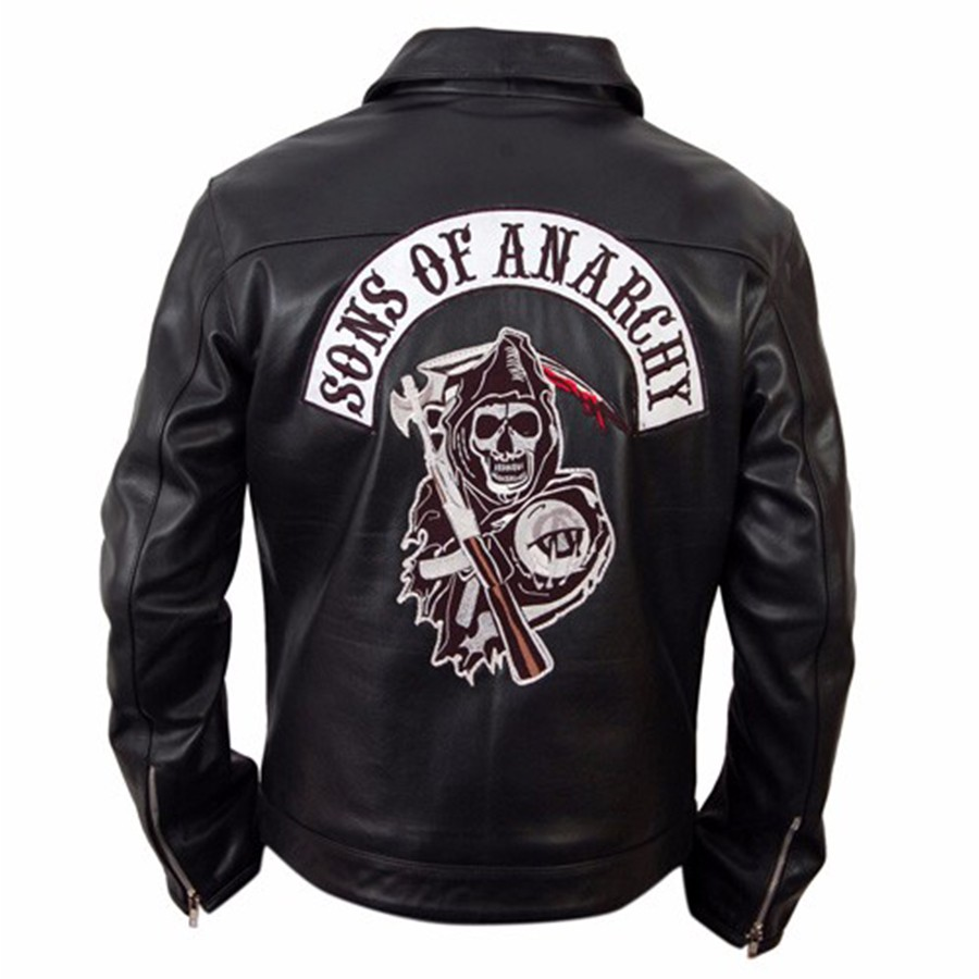 Buy Mens Biker Jacket Sons Of Anarchy Leather Jacket Bagywagy
