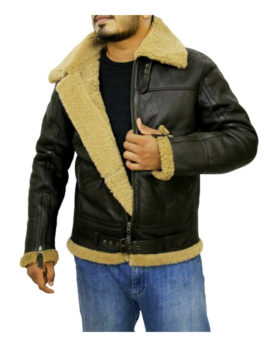 Men's B3 Real Ginger Sheepskin Leather Flying Jacket